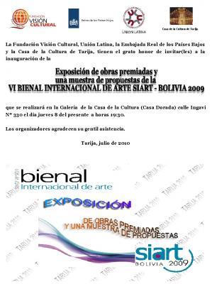 Bienal Internacional Siart 2009 en TARIJA. Bolivia